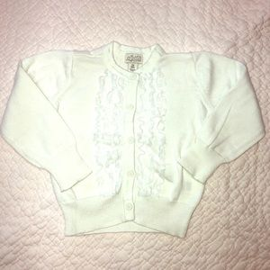 🛍Excellent condition!💞White button down sweater